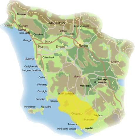 Karte Toskana Küste.Die Maremma Das Land Am Meer Einst Ein Sumpfiges Land Ist Heute